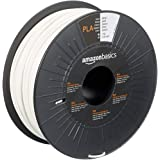 Amazon Basics PLA 3D Printer Filament, 2.85mm, White, 1 kg Spool