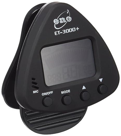 Eno ET 3000 Clip-On-Tuner- Afinador electrónico para guitarra (fijación de