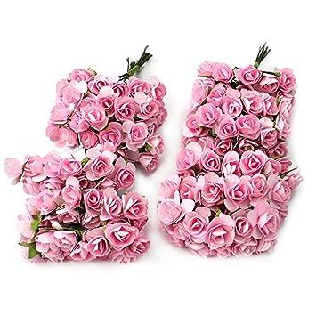 Kunstliche Blutenkopfe Pink Blumen Kopfe 50er Pack Kunstblumen