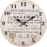Kitchen Rules Clock, 34 cm