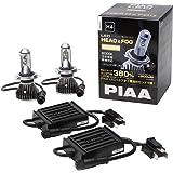 PIAA ヘッドライト/フォグライト用 LEDバルブ H4 6000K 92000cd 3500lm相当※ 車検対応 2個入 12V/24V共用 24/24W 高性能制御回路内蔵 極性フリー 安心のメーカー保証3年 LEH120