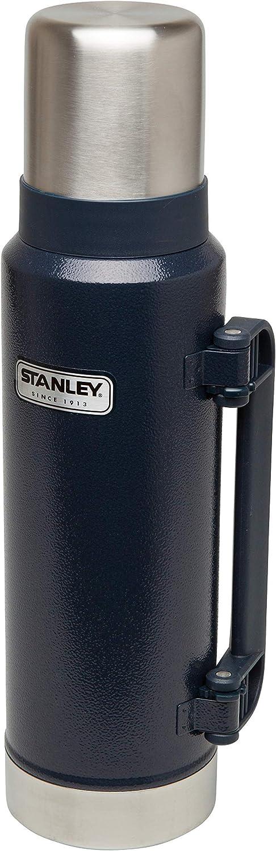 18//8 Stainless Edelstahl Doppelwandige Isolierung Isolierflasche Isolierkanne Kaffeekanne Stanley Vakuum-Thermoskanne Integrierter Thermobecher Hammertone Green 1.3 Liter