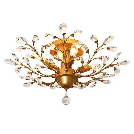 Amazon.com: Garwarm - Lámparas de techo de cristal ...