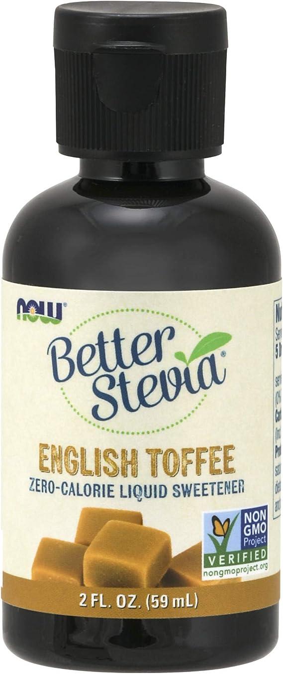 Now Foods Better Stevia Liquid, English Toffee - 59 Ml. - 59 ml