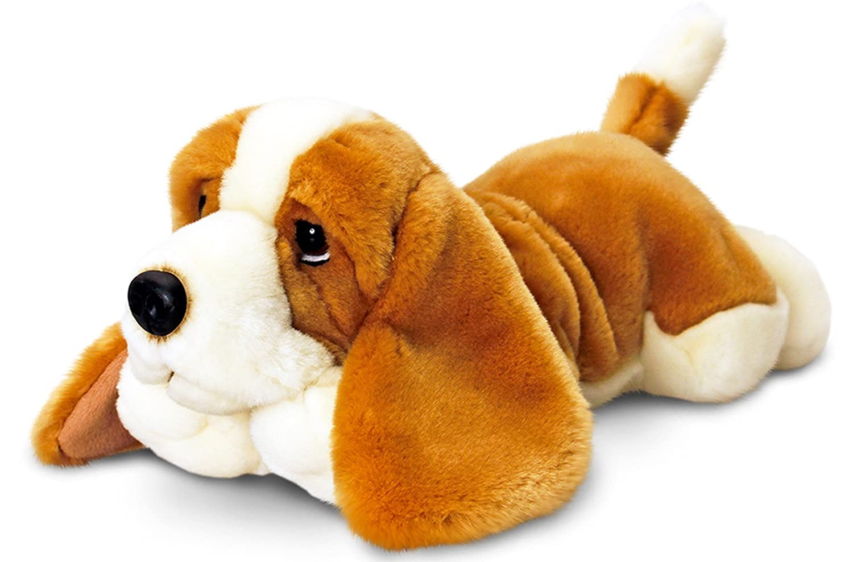 Lashuma Plüschtier Keel Toys peluche perro basset, peluche tumbado aprox. 30 cm: Amazon.es: Juguetes y juegos