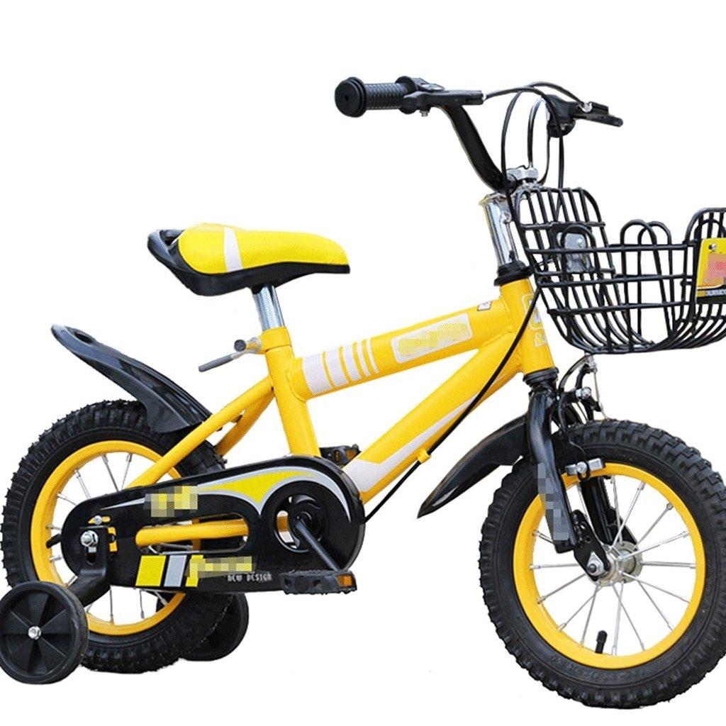 DGF 子供の自転車ベビーペダル自転車2-10歳の男の子と女の子マウンテンバイク (色 : イエロー いえろ゜, サイズ さいず : 18 inches) B07F151YDN 18 inches|イエロー いえろ゜ イエロー いえろ゜ 18 inches