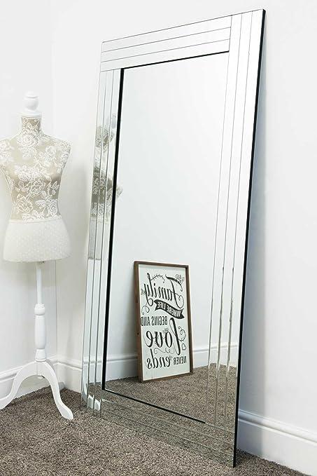 Grande Bordo tripla in vetro moderno specchio, stile ...