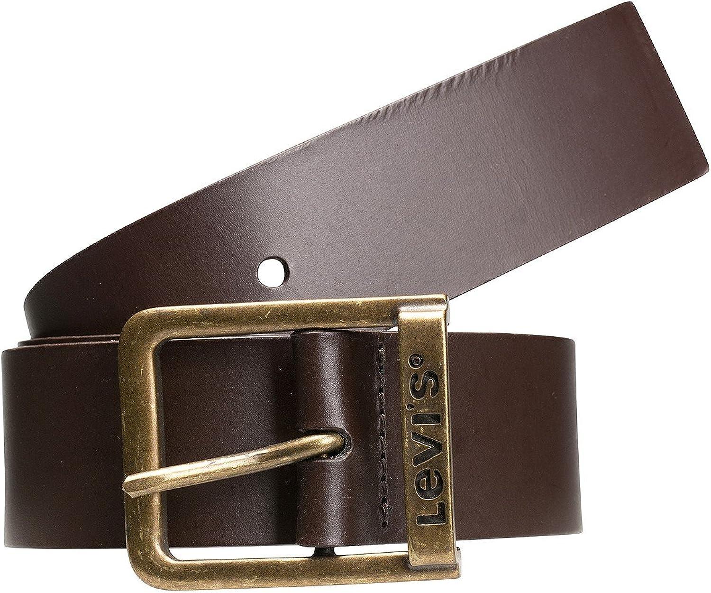 Levis cinturón de correa de cuero de la hebilla de Branded Puente oscuro Marrón oscuro Marrón Marrón - 221484-3-29