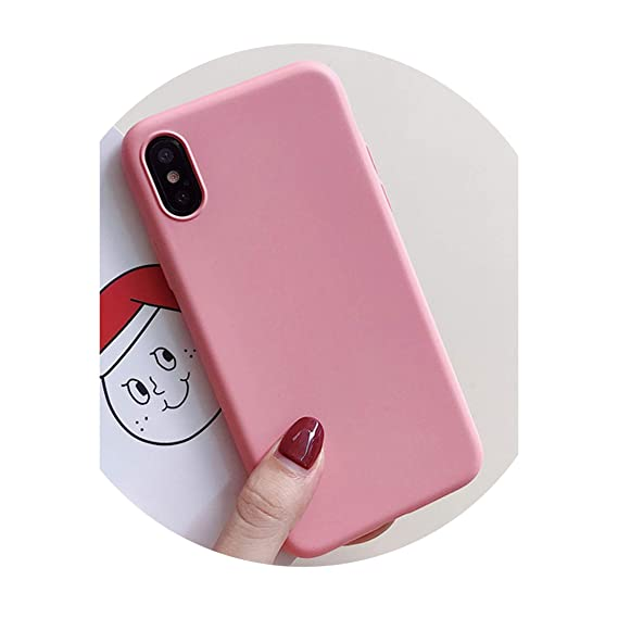 outlet store af890 0638a Amazon.com: Fashion Candy Color Phone Case for iPhone X Case Rubber ...