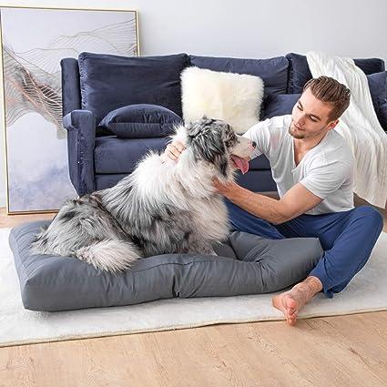 Bedsure Camas para Perros Pequeños Impermeable - Colchón Perro para Verano Lavable y Suave, M 76x50x10 cm, Gris: Amazon.es: Productos para mascotas