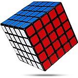 FAVNIC スピードキューブ 5x5x5【6面完成攻略書付き】立体パズル ポップ防止 競技専用 おもちゃ スタンドつき 滑り止め