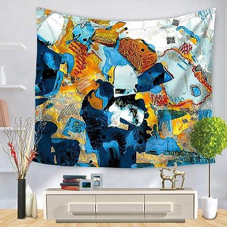 jzxjzx Tapiz Decorativo de Acuarela Arte Tapiz 1 150 * 200 ...