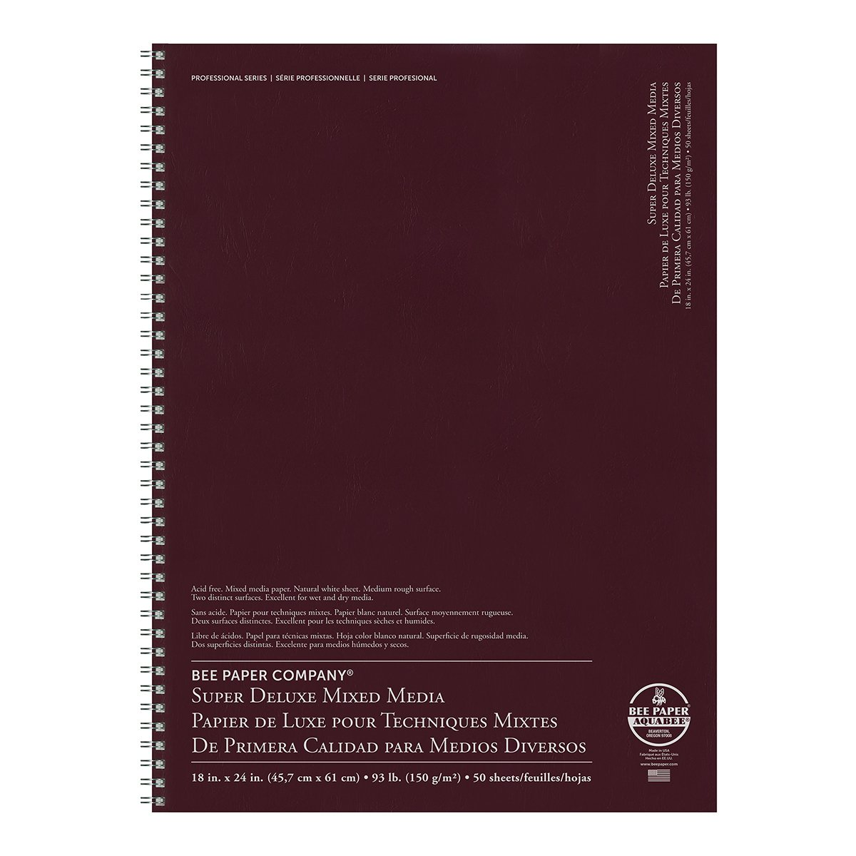 Bee Paper Company BEE-808S60-1824 Deluxe Drawing Paper Afdeluxe 18-Inch-by-24-Inch, 18-inch x 24-inch, 50 Sheet Wire Bound Pad by Bee Paper Company