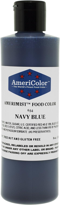 AmeriColor Amerimist AirBrush Food Color (Navy Blue, 9 oz)