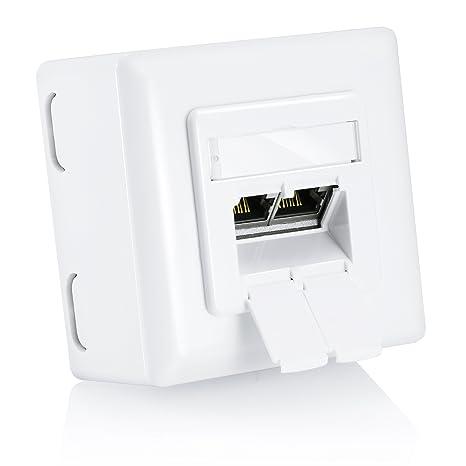Schema Collegamento Ethernet : Csl presa per network combi cat6 2 porte gigabit ethernet presa