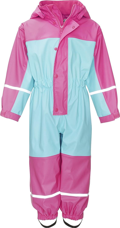 Playshoes Baby-Mädchen Regenjacke Wasserdichter Regen-Overall, Regenanzug mit Fleece-Futter, Reflektoren 405401