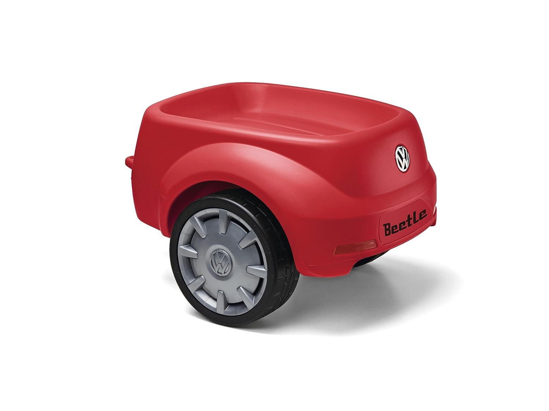 Original Volkswagen Junior Beetle Rutschauto-Anhänger Kinderspielzeug in Rot 5C0087502A 645