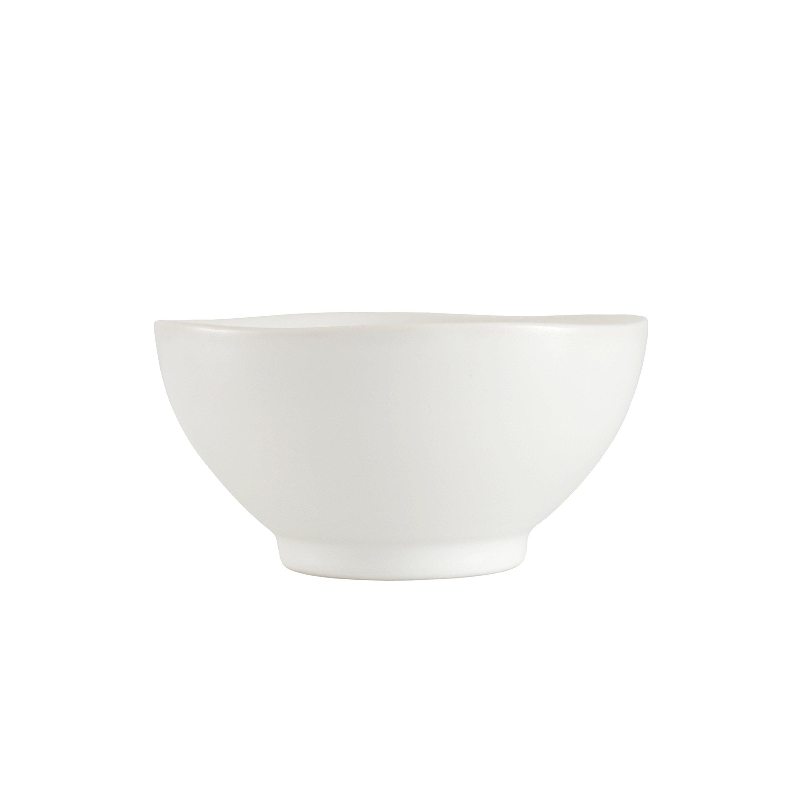 Fortessa Vitraluxe Dinnerware Heirloom Matte Finish Rice Bowl 5.75-Inch, Linen, Set of 4