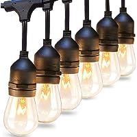 addlon 2 Pack 48 FT Outdoor String Lights Commercial Grade Weatherproof Strand 16 Edison Vintage Bulbs 15 Hanging…