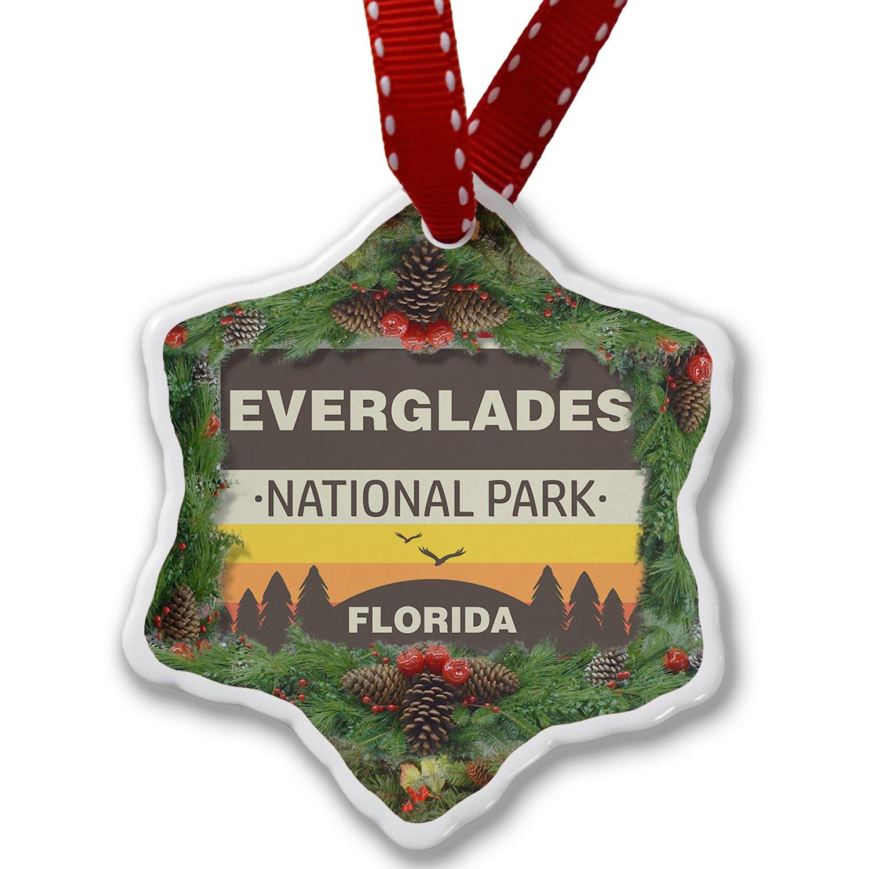 Christmas Ornament National Park Everglades - Neonblond ornament-01-159806