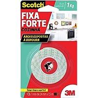 Fita Dupla Face 3M Scotch Fixa Forte Cozinha - 24 mm x 1,5 m