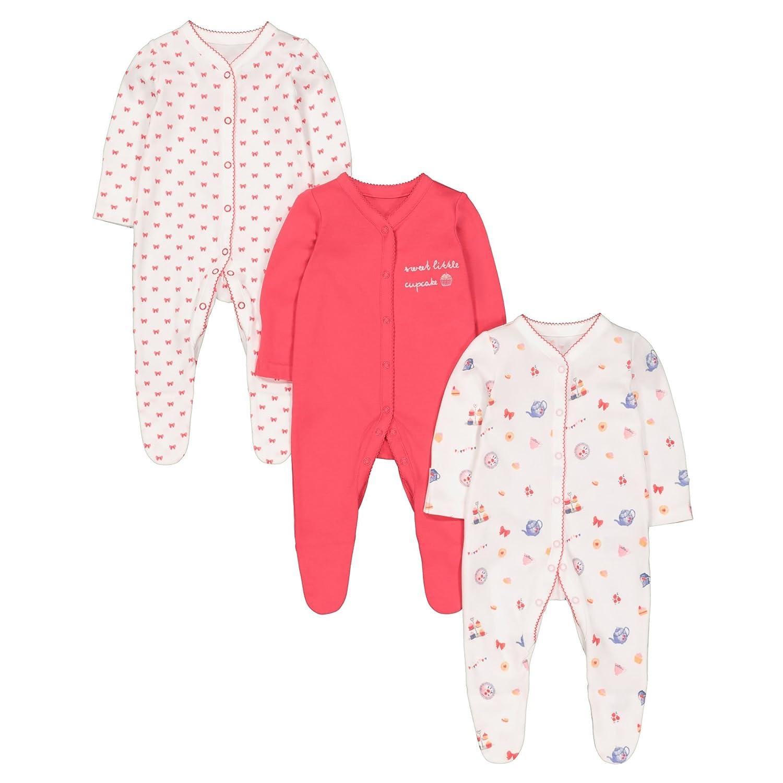 Mothercare Baby-Mädchen Schlafstrampler QB079
