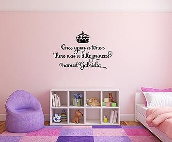 14 Princesa Habitación Niña Personalizado Pared Arte Vinilo Decoración Del Hogar Varios Tamaños cita