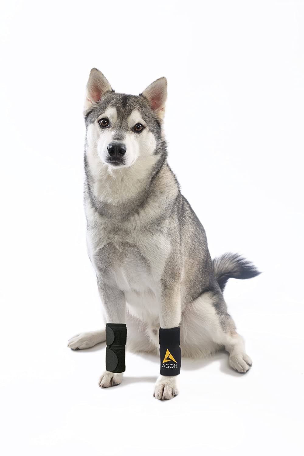 (PAIR) Agon Dog Canine Front Leg Brace Paw Compression Wraps With Straps (Large/X-Large)