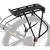 Bike Cargo Rack w/Bungee Cargo Net & Reflective Logo Universal Adjustable Bicycle Rear Luggage Touring Carrier Racks 55lbs Ca