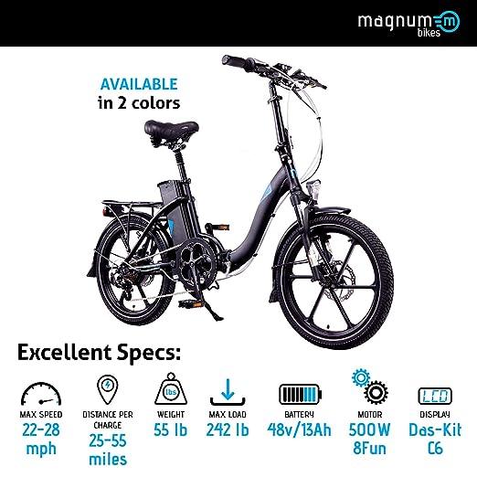 Amazon.com: Magnum Premium – Bicicleta – 48 V Trasera de 13 ...