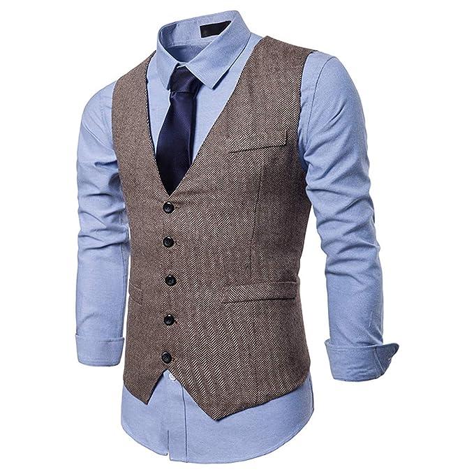 Herren Pure Farbe Anzug Weste Kleid Weste Für Männer Smoking