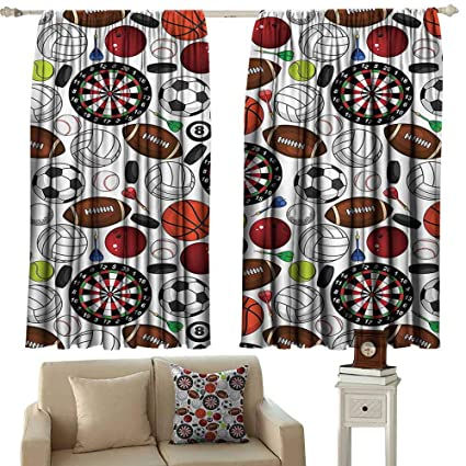 Amazon Sports Decor Collection Noise Reduction Curtain Pattern Adorable Bedroom Boards Collection