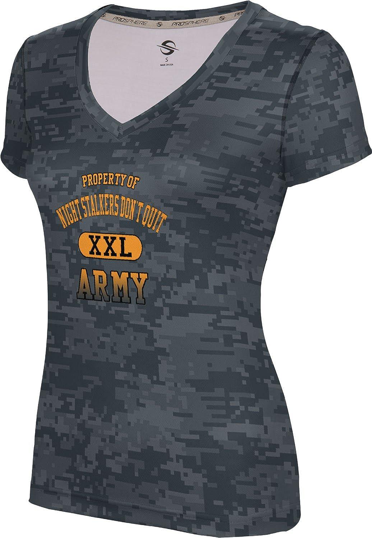 Women's NIGHT STALKERS DON'T QUIT Military Digital SL V-Neck Training Tee