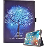 MagicSky iPad 9.7 Inch 2018 2017 / iPad Air 1/Air 2 Case Premium PU Leather Slim Cover with Auto Wake/Sleep,Multiple Viewing Angles for Apple iPad 6th / 5th Gen,iPad Air 1/2,Believe in yourself