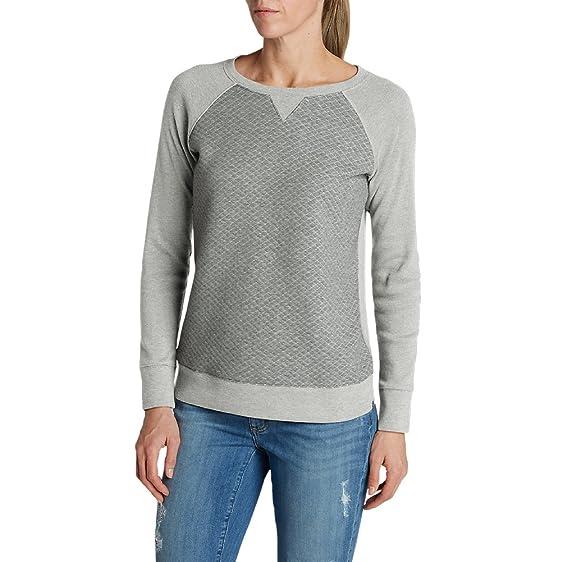 Amazon.com: Eddie Bauer Women's Legend Wash Quilted Sweatshirt ... : quilted sweatshirt - Adamdwight.com