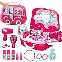 Ajmeri Girl's Plastic Make up Toys (Pink)