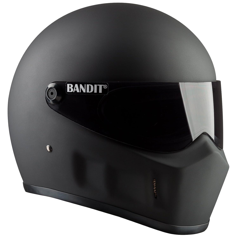 Bandit Super Street 2 Helm Schwarz Matt XL 61//62