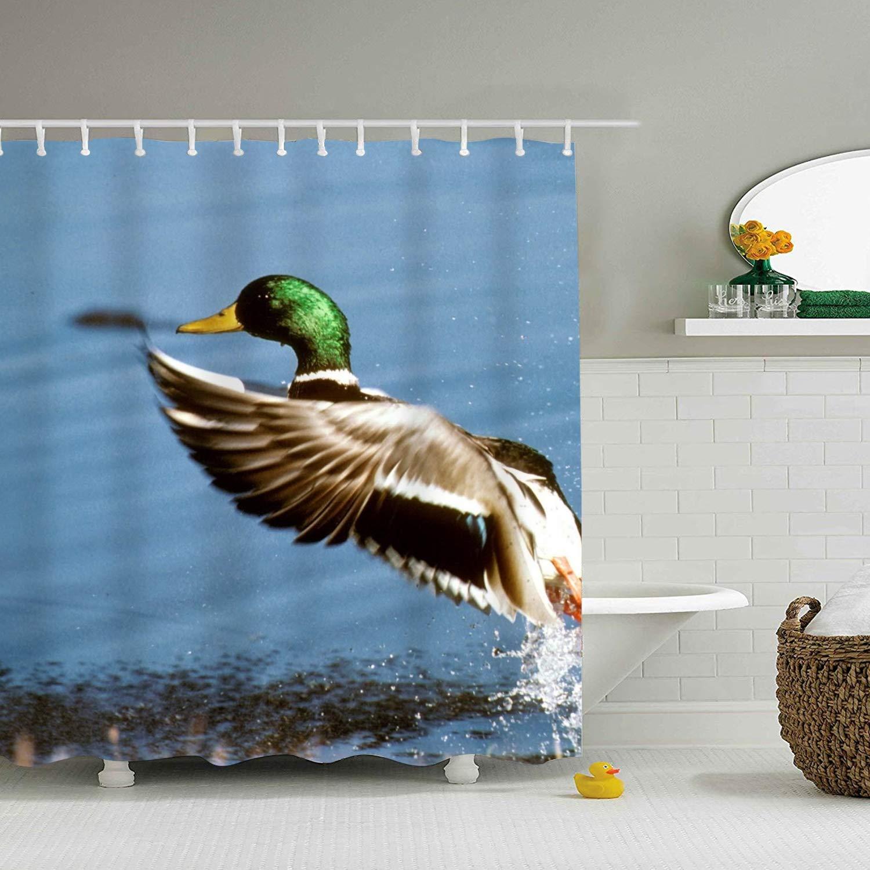 Amazon WANL Funny Mallard Duck Shower Curtain Bath Decorations Bathroom Decor Home Kitchen