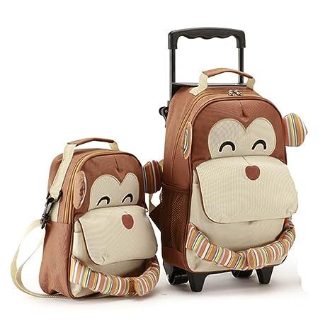 Allis Set de viaje para niños, incluye maleta para cabina de avión y mochila ,