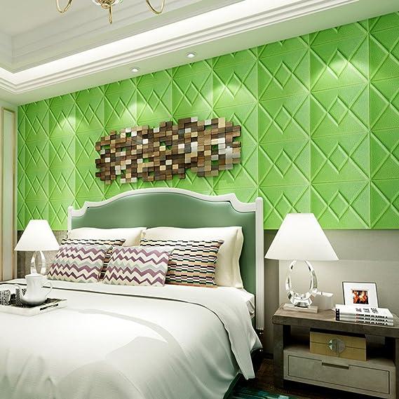 JiaMeng PE Espuma 3D Wallpaper DIY Wall Stickers en Relieve ...