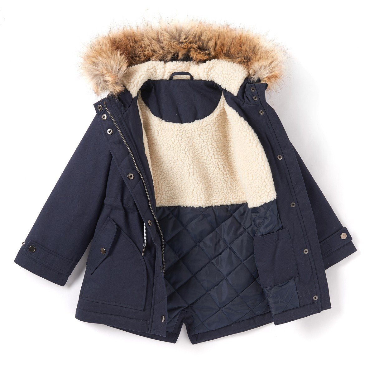 La Redoute Collections Big Girls Hooded Parka 3-12 Years