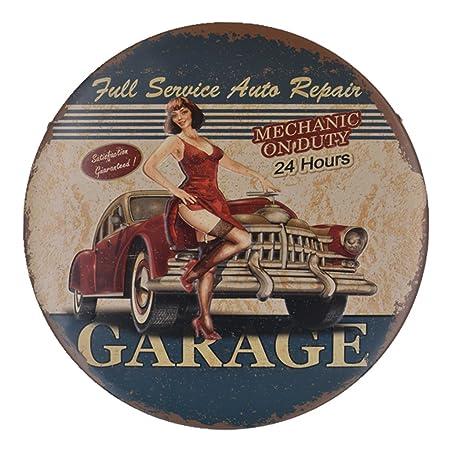 Gazechimp Placas Cartel de Chapa Metal Vintage Póster Arte Adorno de Hogar Decoración De Pared Pub Cafetería - #7