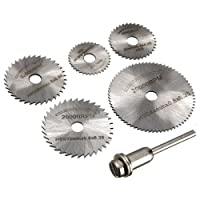 Tools Centre 47362 Hss Circular Saw Blade Set for Metal Rotary Tools, 6 Pieces