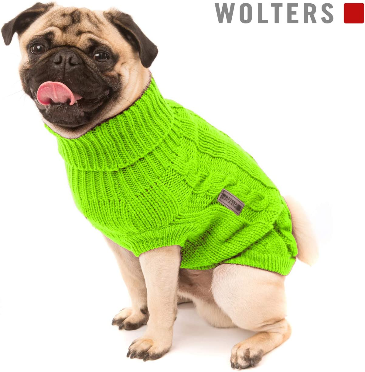 Hunde Pullover Hundebekleidung Lime Wolters Zopf-Strickpullover f/ür Mops /& Co
