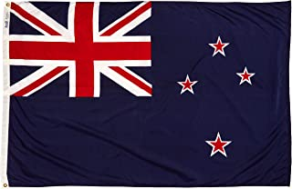product image for Annin Flagmakers Model 196164 New Zealand Flag Nylon SolarGuard NYL-Glo, 4x6 ft, 100% Made in USA to Official United Nations Design Specifications