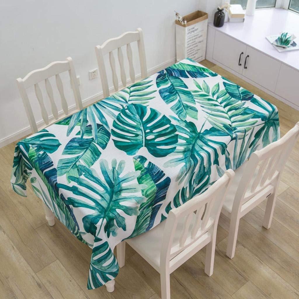QYM テーブルクロスコットンリネン新鮮な防水長方形のシンプルな布のコーヒーテーブルダイニングテーブルクロス (Color : B)  B B07SN9S4CW