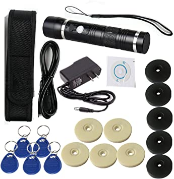 Security Tour Guard Patrol Wand with built-in LED floodlight+30 PCs Check Points
