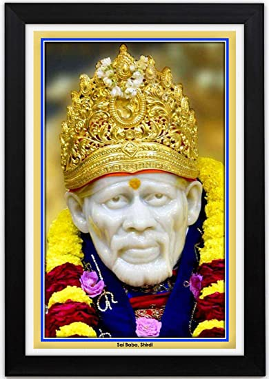 Buy Braj Art Gallery Shirdi Sai Baba Framed Portrait 13 5x19 5 Inches Online At Low Prices In India Amazon In
