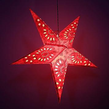 Decoratif Festive Lanterne De Noel A Suspendre Etoile En Papier