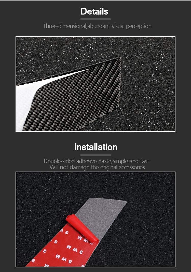GZXinWei Car Exterior Accessories Carbon Fiber Rear Windows Trim Stripe Sticker Cover